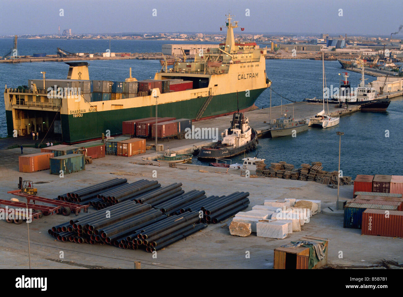 Port of Sousse, Tunisia, North Africa, Africa Stock Photo