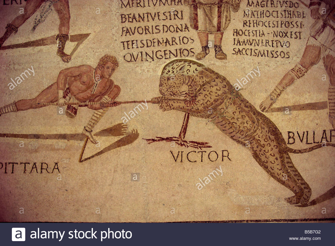 Hunting scene, Sousse Museum, Sousse, Tunisia, North Africa, AFrica Stock Photo