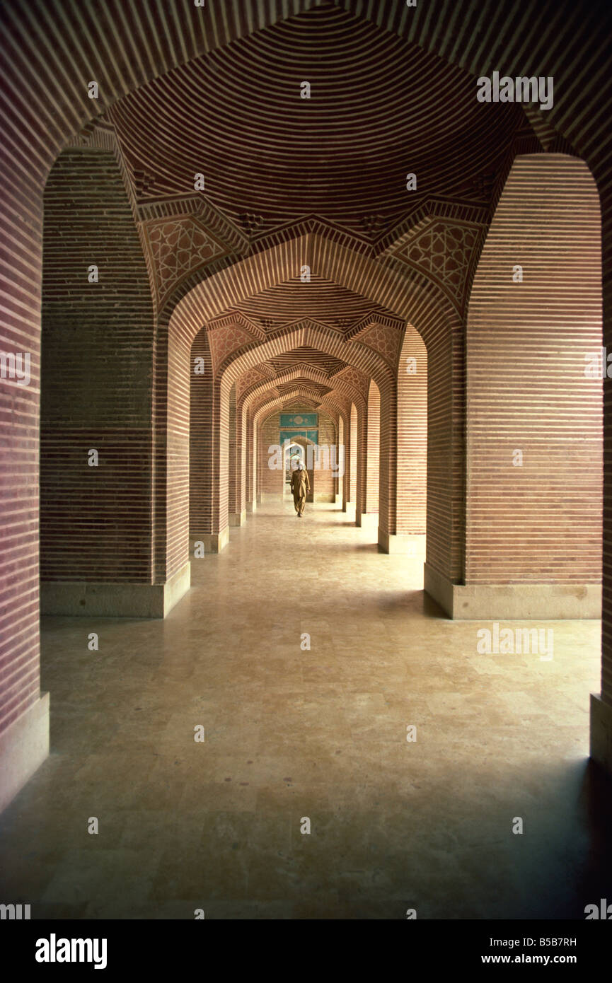 The interior of the Shah Jahan Mosque in Thatta Pakistan Asia - Stock Image