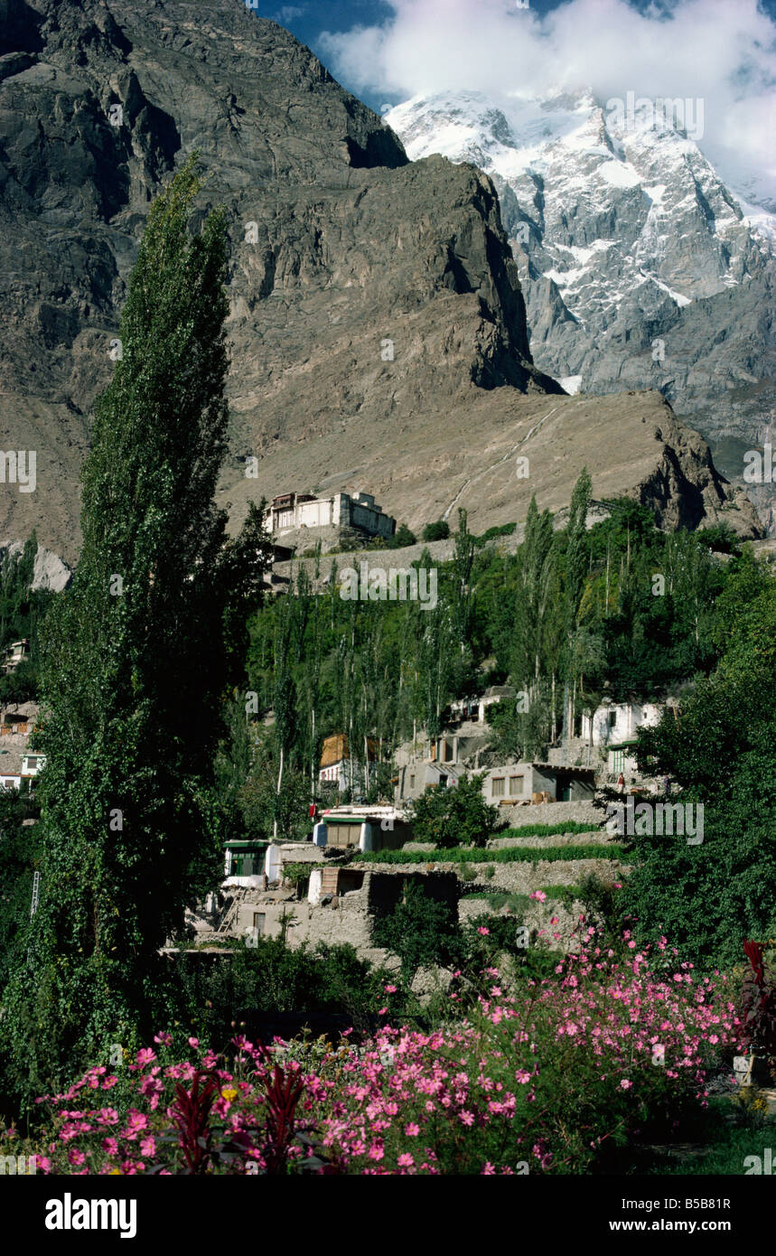 The village of Baltit in Hunza Pakistan Asia - Stock Image