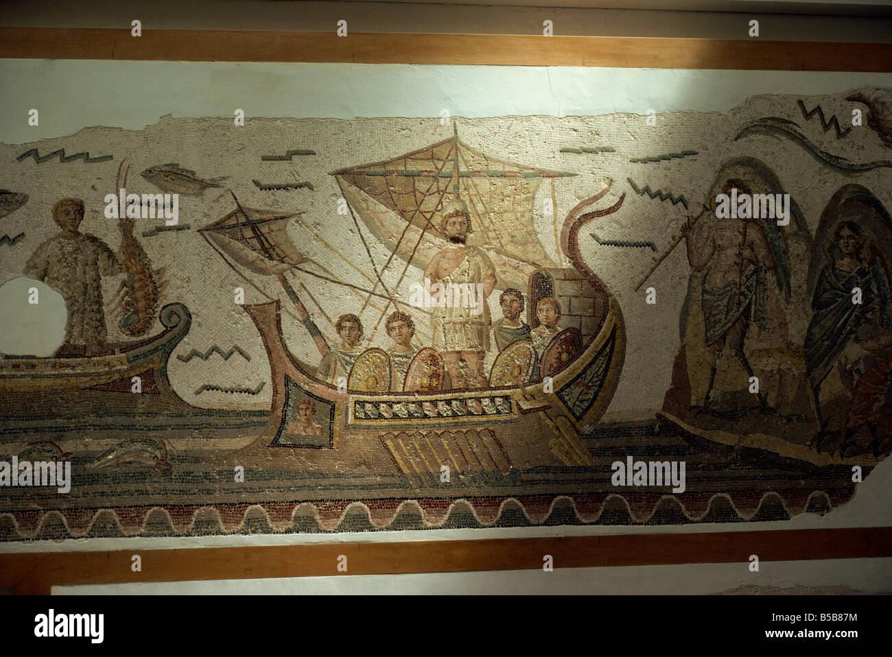 Mosaics at Bardo Museum Tunis Tunisia North Africa Africa Stock Photo