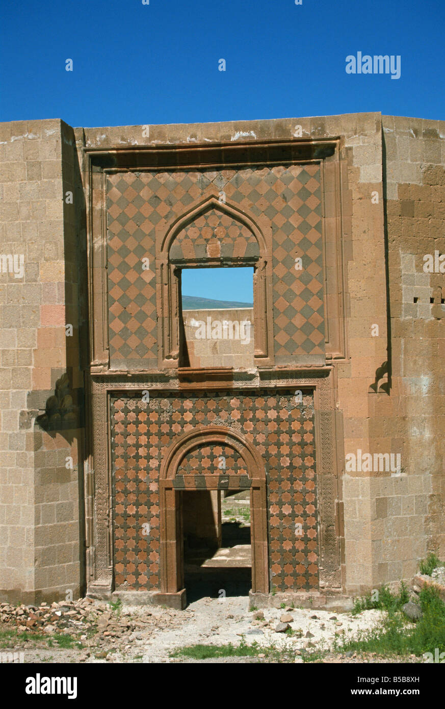 Seljuk Turk Palace Ani northeast Anatolia Turkey Asia Minor Eurasia - Stock Image