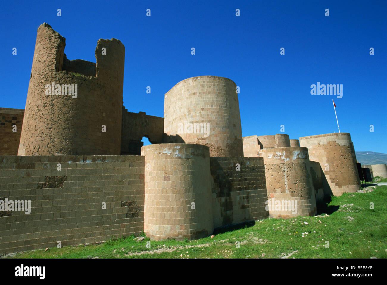 The walls Ani northeast Anatolia Turkey Asia Minor Eurasia - Stock Image