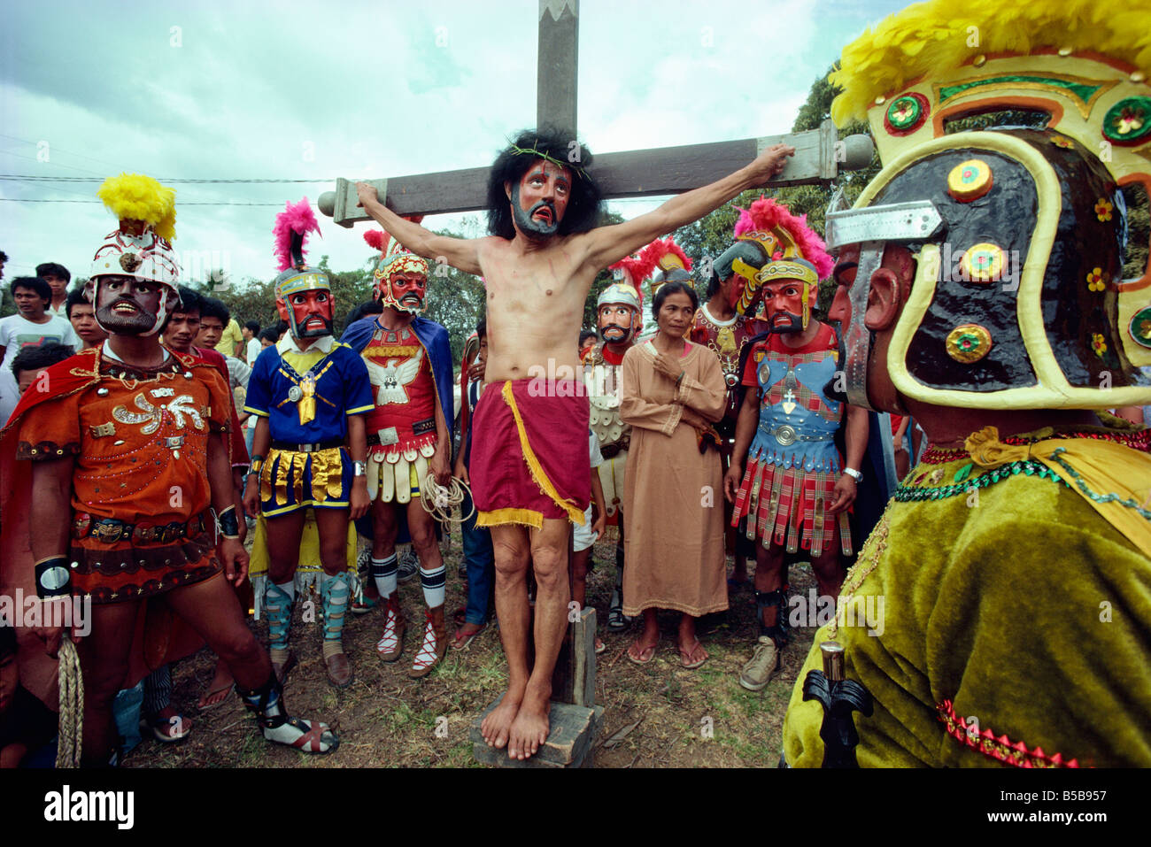 easter holy week way of the cross procession and crucifixion during stock photo  20532323