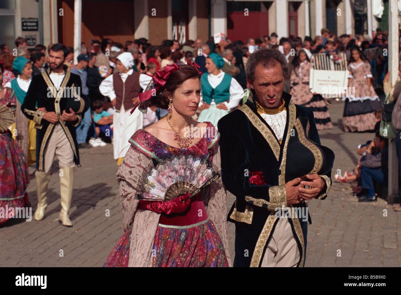 New Fairs history parade, Ponte de Lima, Minho, Portugal, Europe - Stock Image
