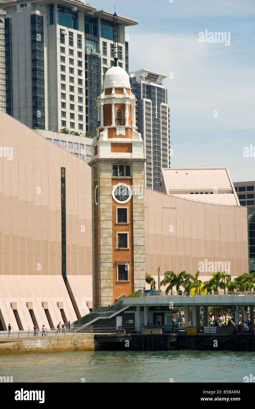 The clock tower, Tsim Sha Tsui, Kowloon, Hong Kong - Stock Image