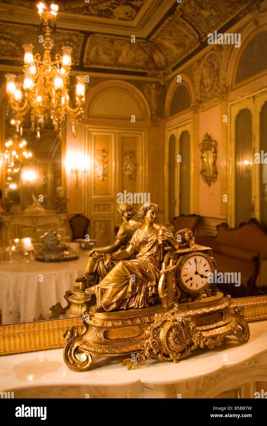 Golden Carriage Clock In Dining Room Comedor In The Palacio Del Marques De  Dos Aguas Which