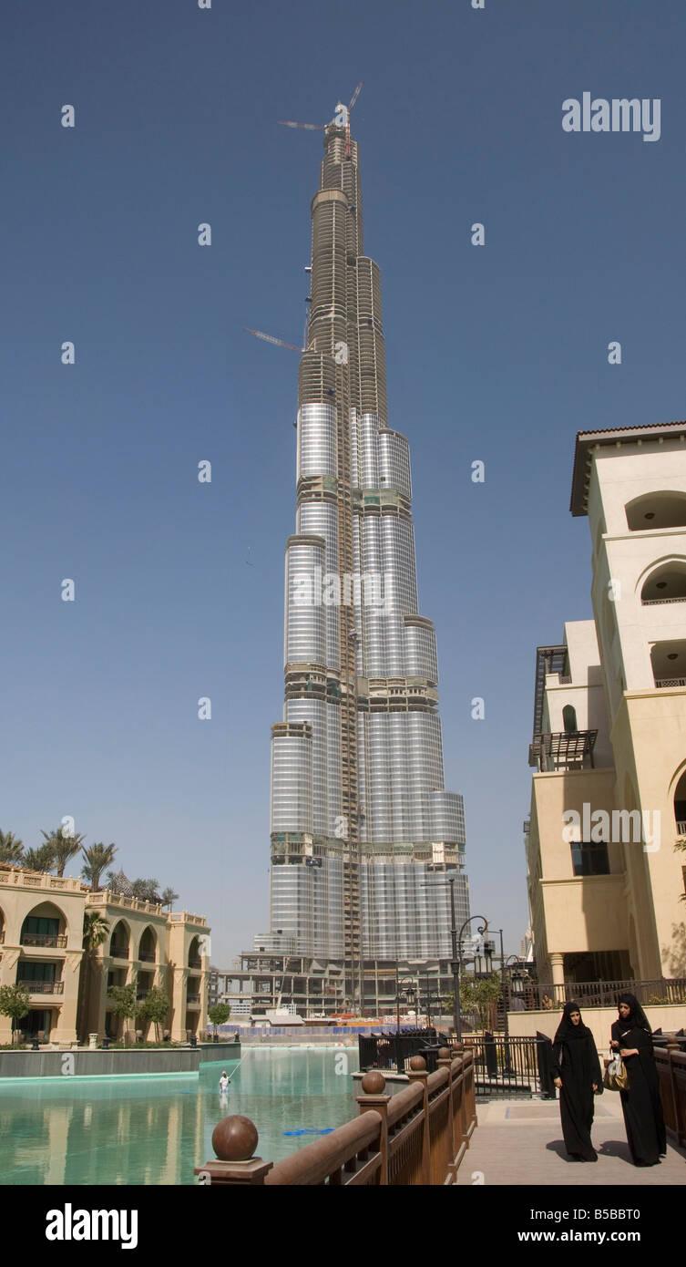 Burj Dubai World S Tallest Building Under Construction Dubai Stock Photo Alamy