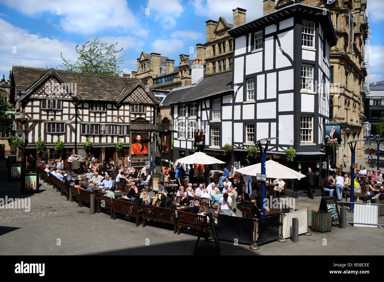 Old half timbered buildings, Manchester, England, Europe - Stock Image