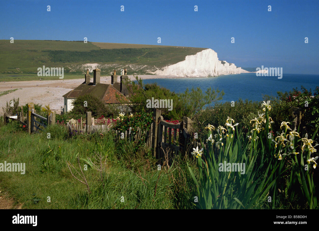 Cuckmere Haven and the Seven Sisters East Sussex England United Kingdom Europe Stock Photo