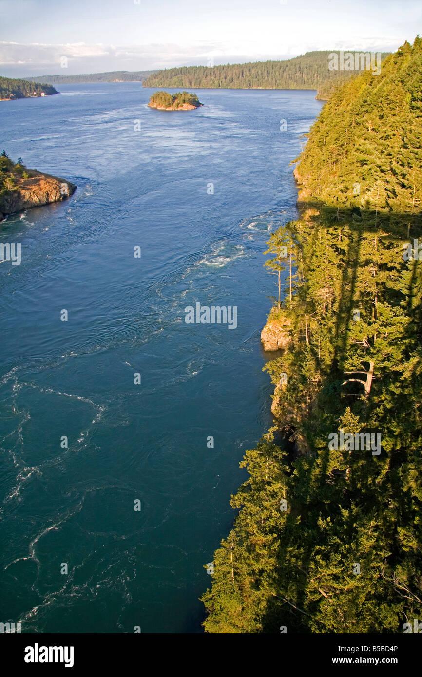 Deception Pass in Island County Washington - Stock Image