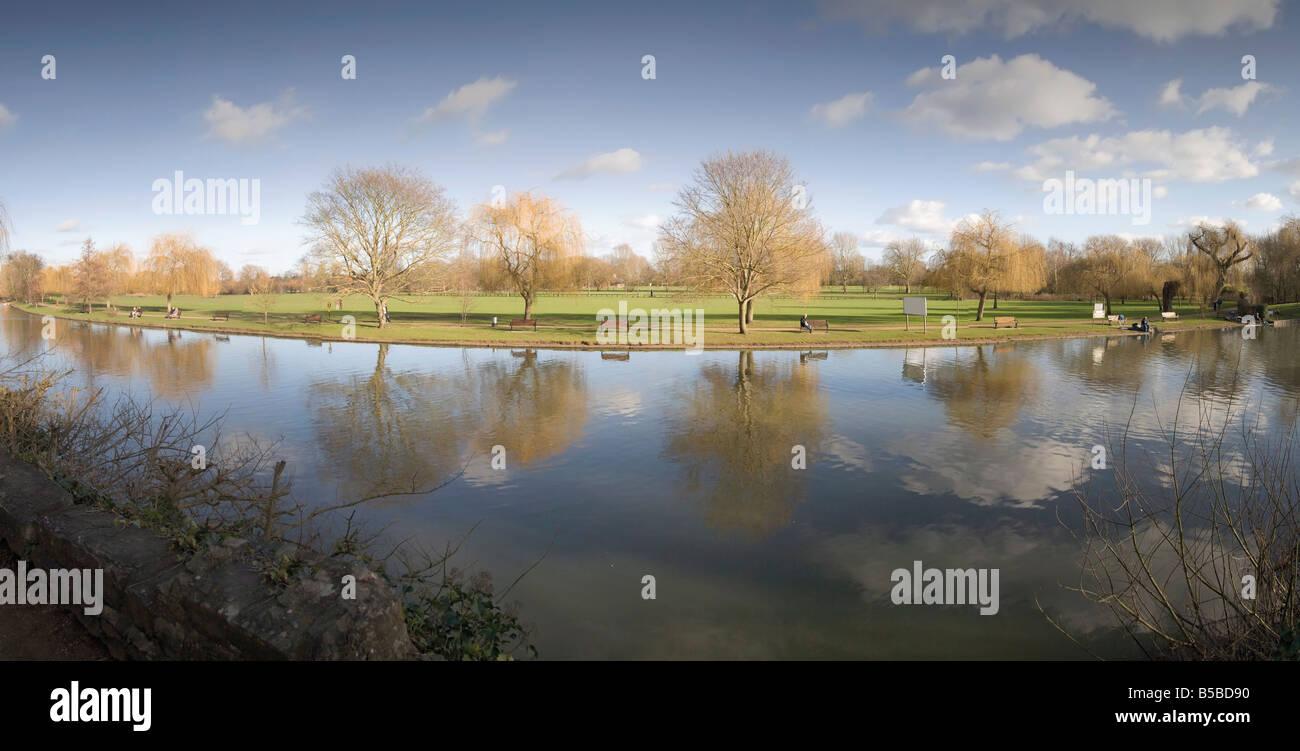 River Avon Stratford upon Avon Warwickshire England United Kingdom Europe - Stock Image