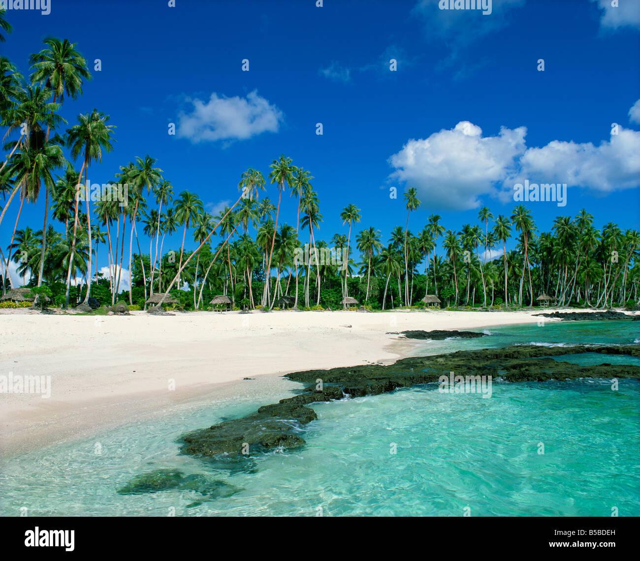 return to paradise beach near lefaga western samoa pacific