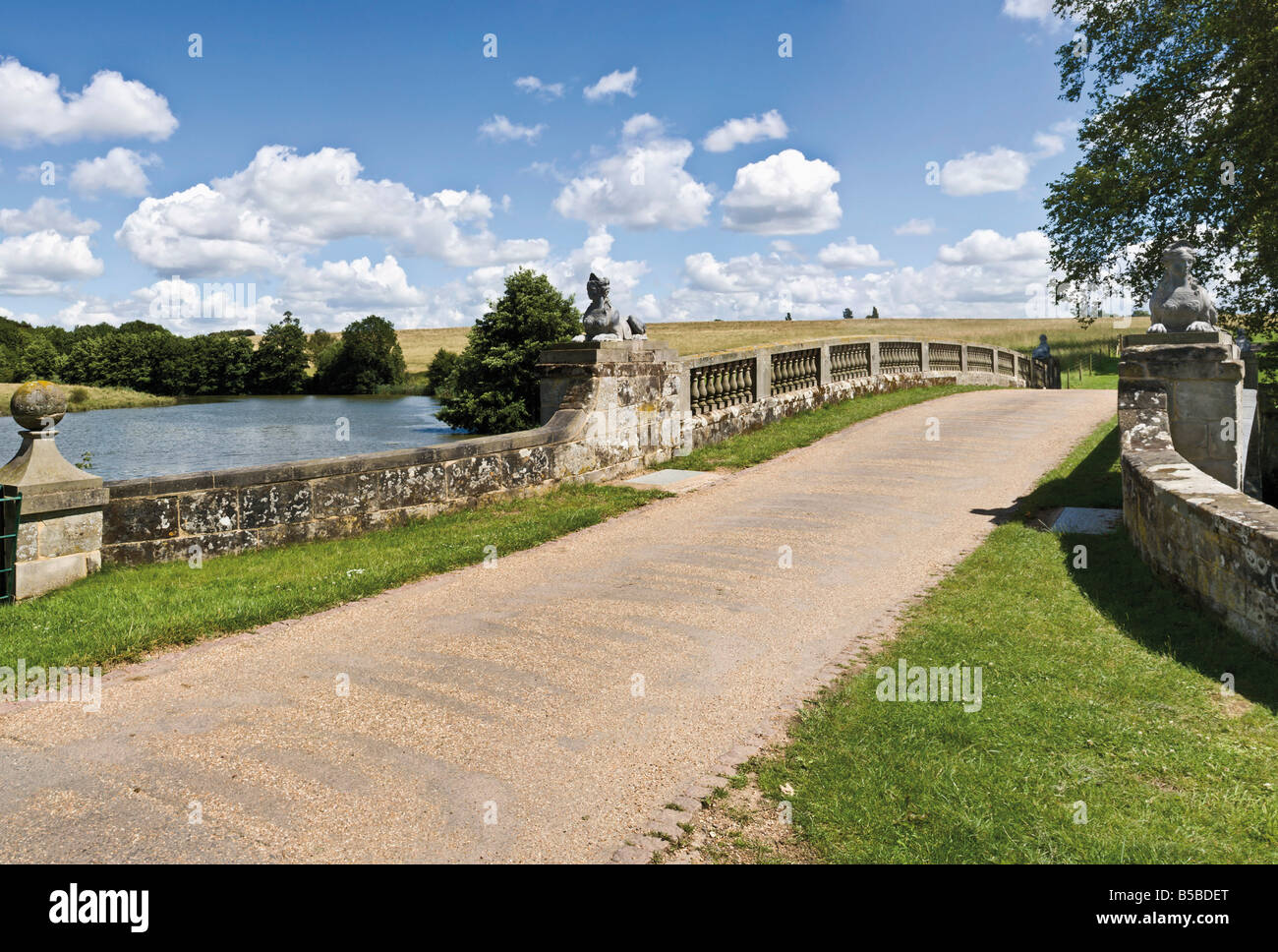 Robert Adam bridge Compton Verney Warwickshire England United Kingdom Europe - Stock Image