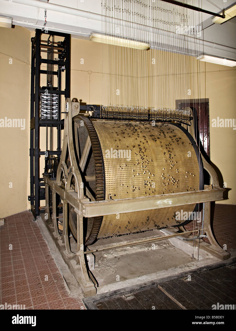 Part of controlling mechanism for the carillion in the Belfry Ghent Belgium - Stock Image