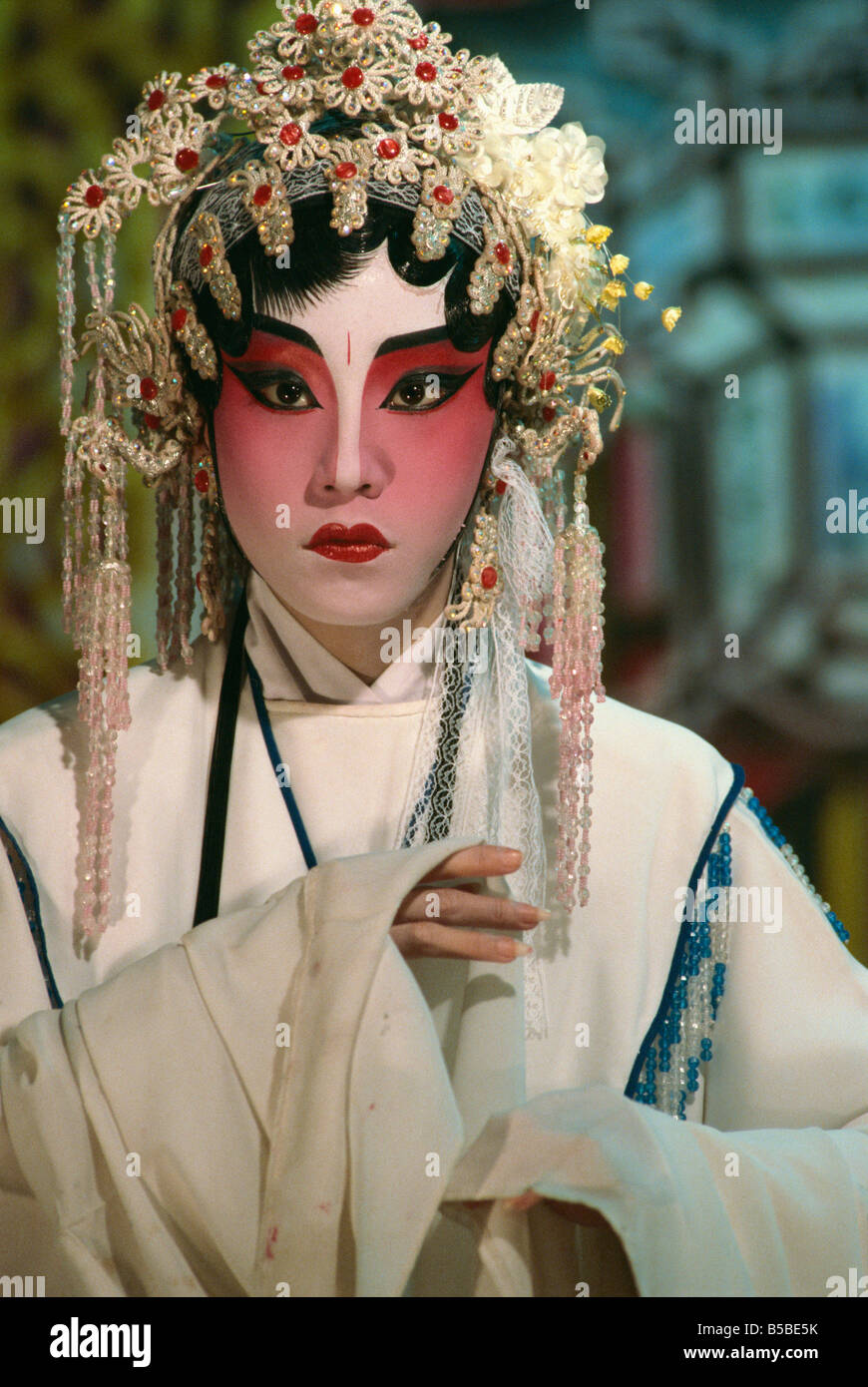Chinese opera actors perform all year round Singapore Southeast Asia Asia - Stock Image