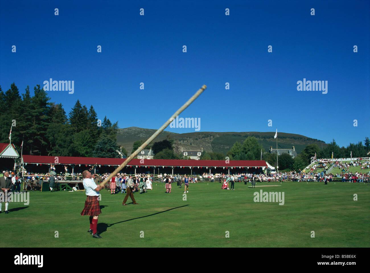 Royal Highland Games, Braemar, Grampian, Scotland, Europe - Stock Image
