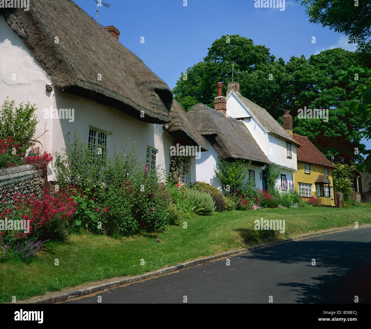 Cottages at Wendens Ambo, Essex, England, Europe - Stock Image