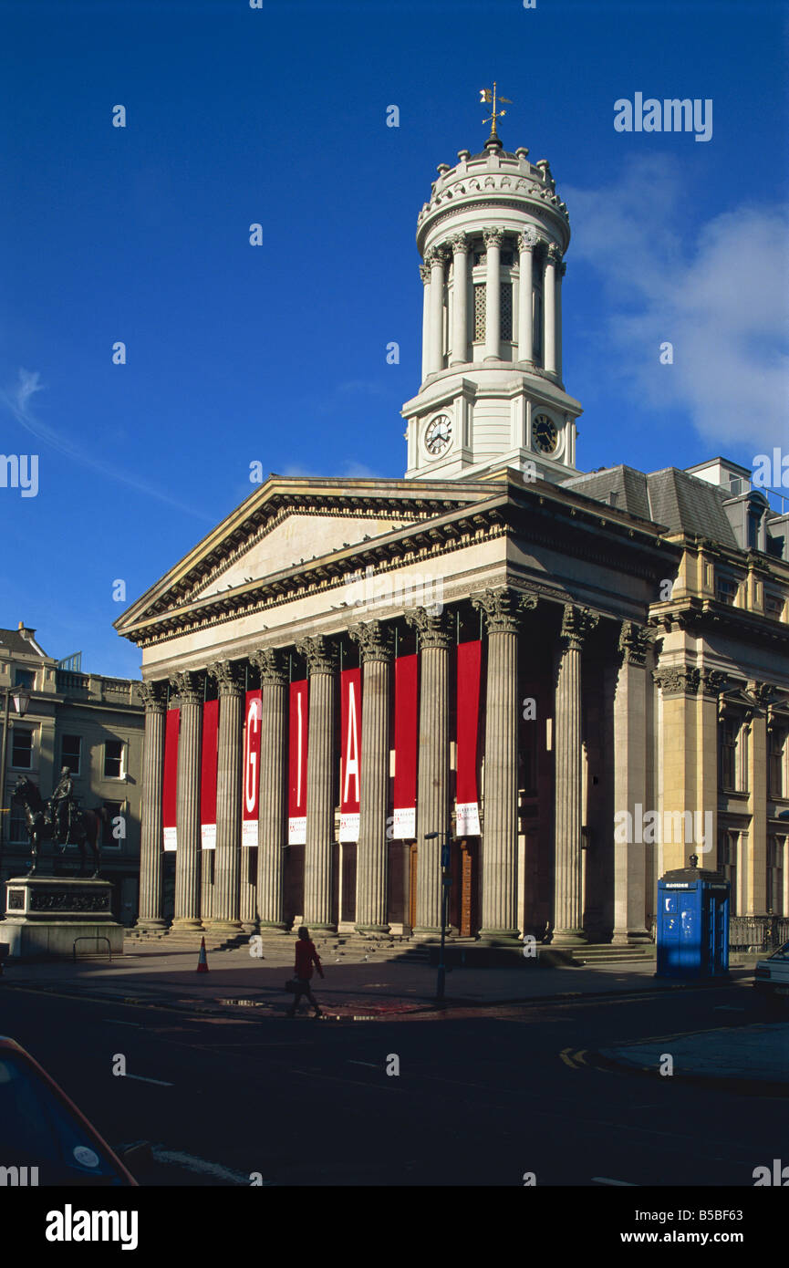 The Royal Exchange, now Stirling Library, Glasgow, Scotland, Europe - Stock Image