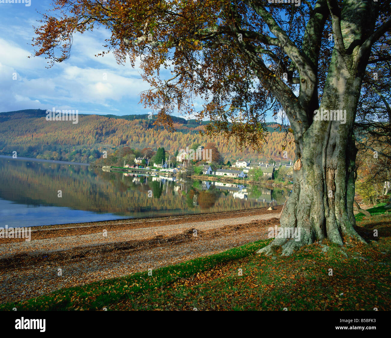 Loch Tay, Kenmore, Tayside, Highlands, Scotland, Europe - Stock Image
