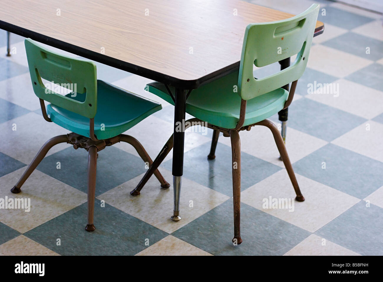 Very Small Chairs And Low Table In A Children S Playroom