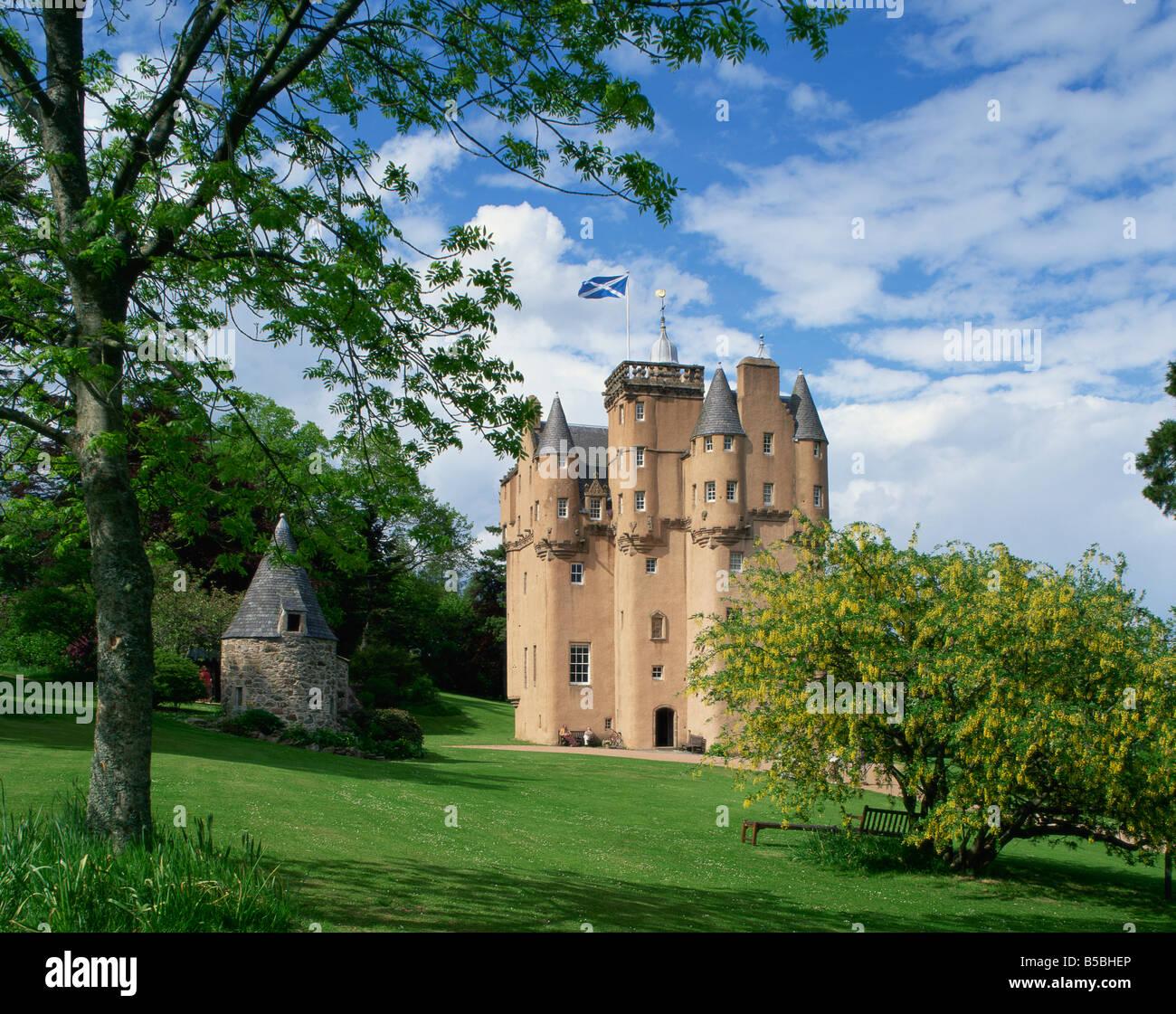 Craigievar Castle Highlands Scotland United Kingdom Europe - Stock Image