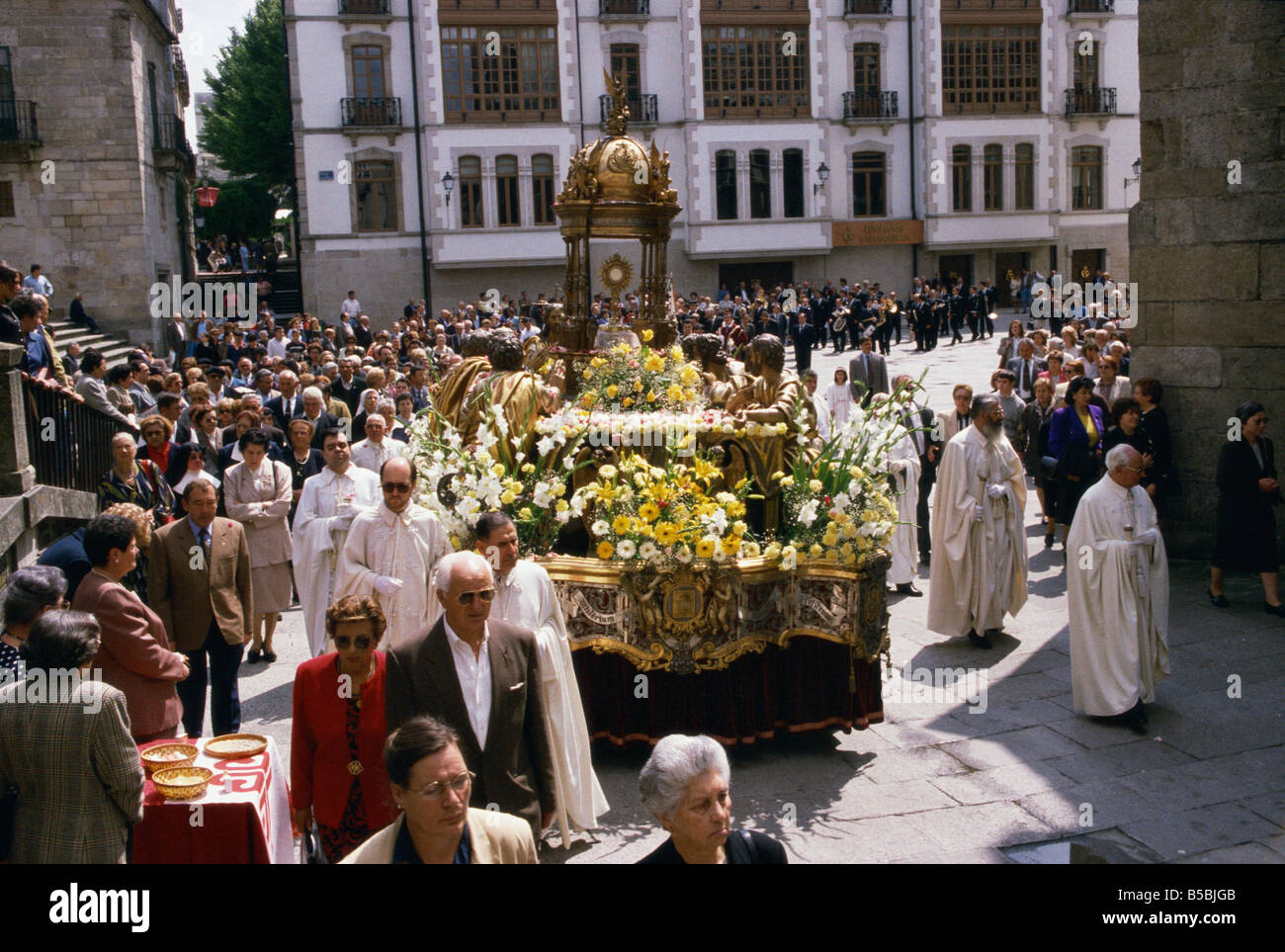 Corpus Christi procession Lugo Galicia Spain Europe - Stock Image