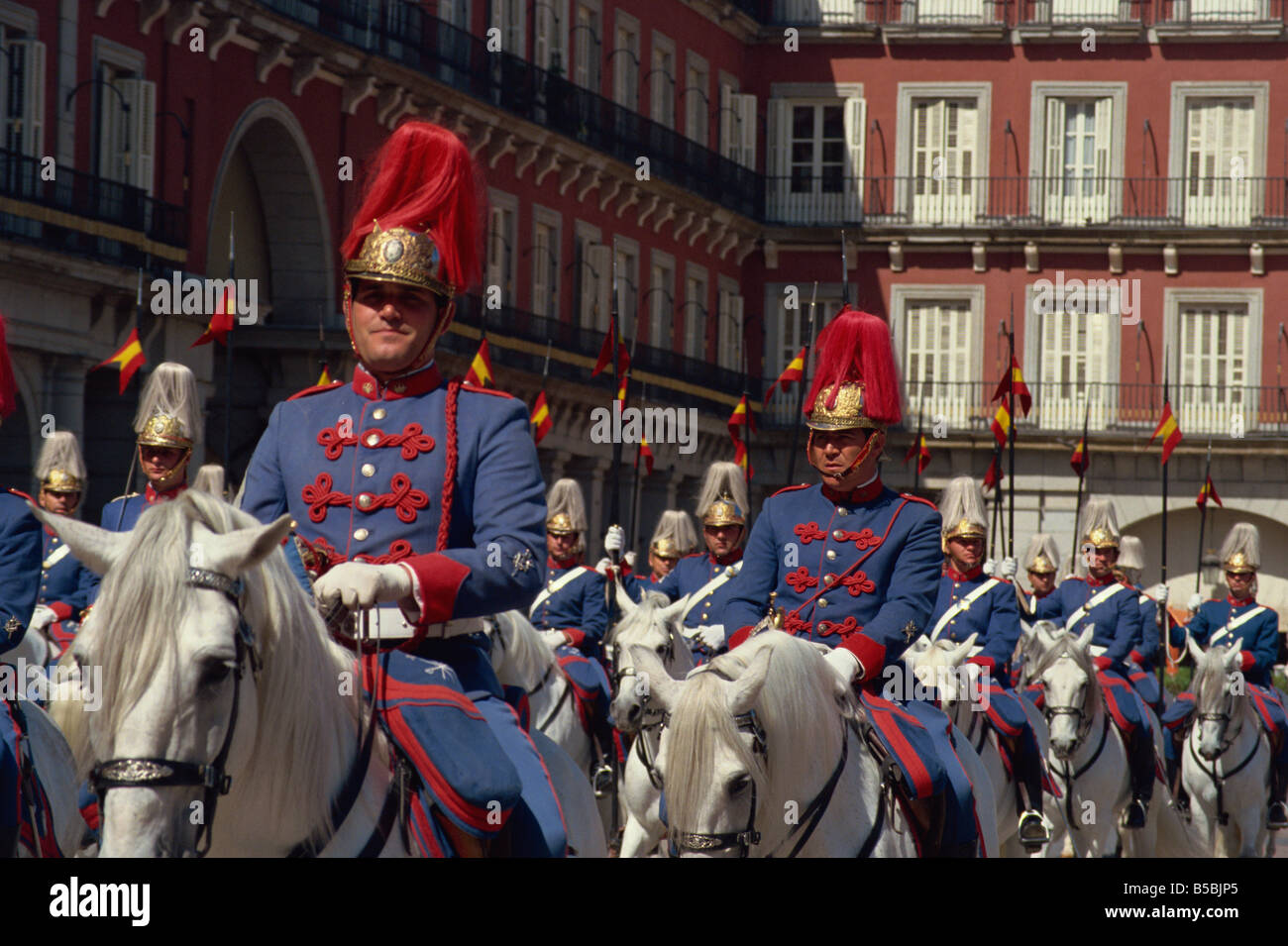 Horse-guards, Madrid, Spain, Europe Stock Photo