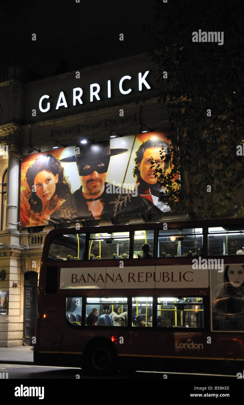 Garrick theatre in the West End of London UK - Stock Image