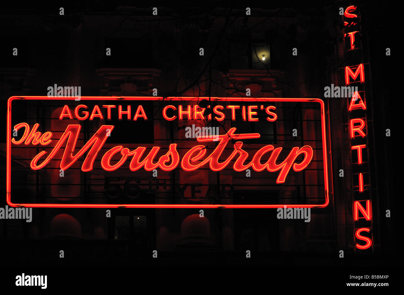 Agatha Christie s The Mousetrap at St Martins theatre London UK - Stock Image