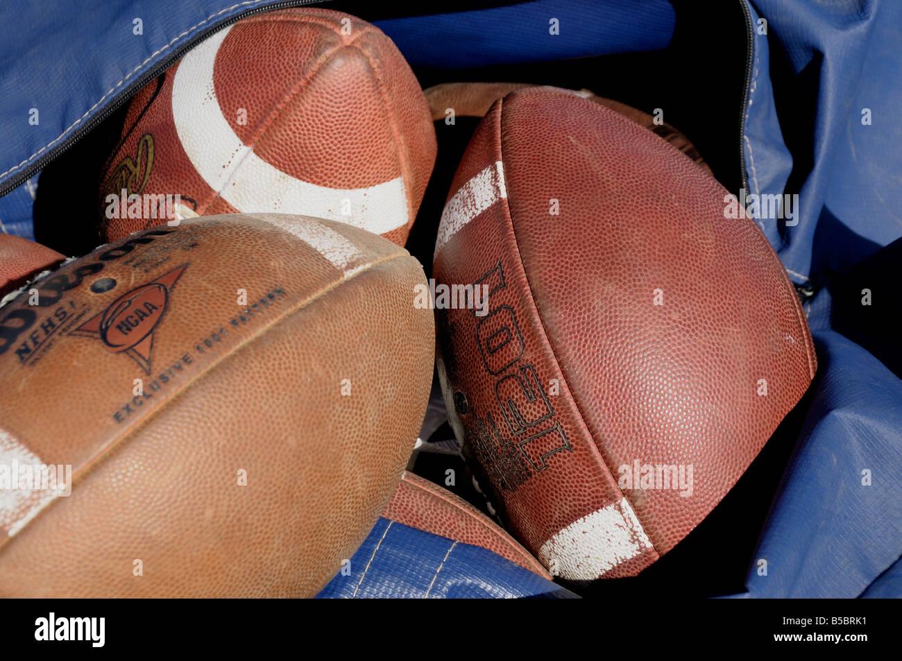 footballs Stock Photo
