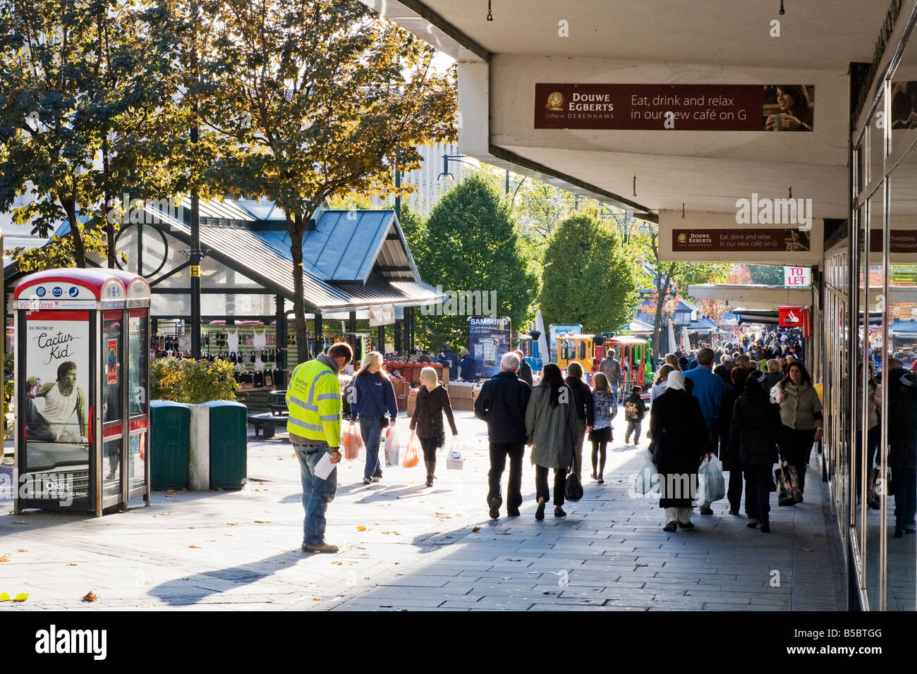 'The Moor' shopping precinct in Sheffield,South Yorkshire,England, 'Great Britain' - Stock Image