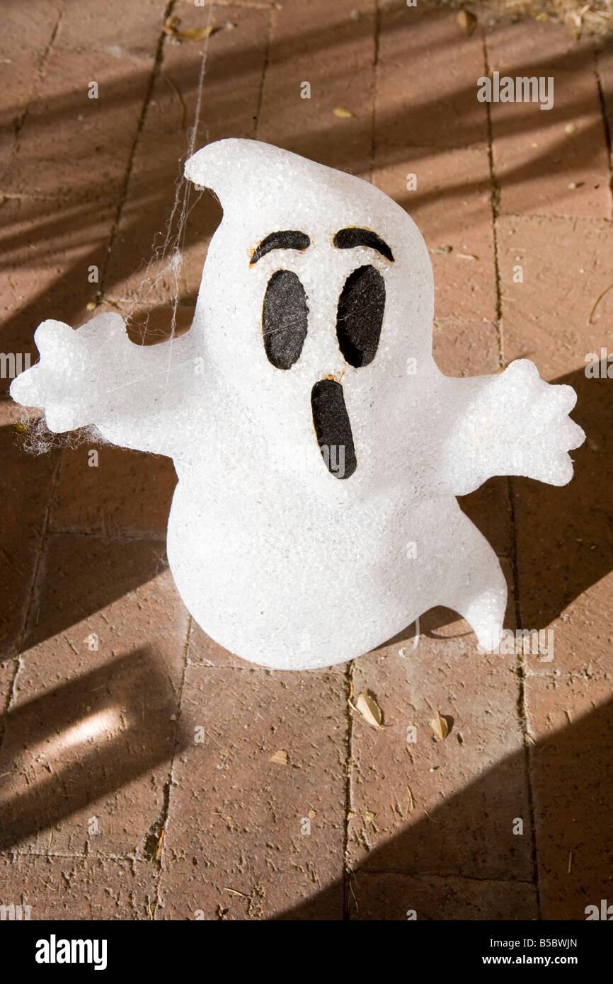 ghost halloween decoration  boo - Stock Image