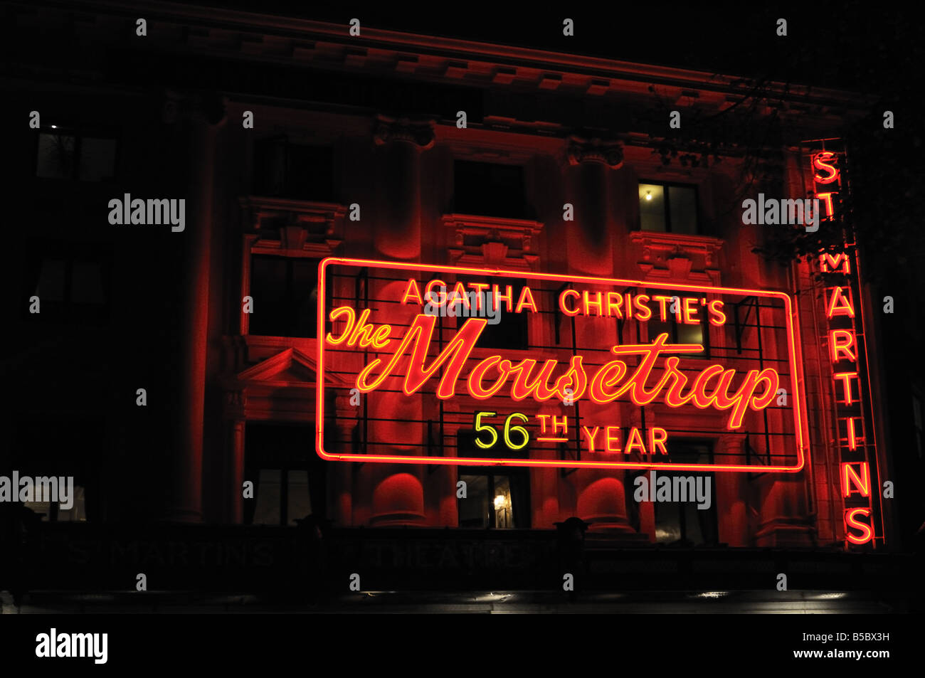 The 56th year of Agatha Christie s The Mousetrap at St Martins theatre London UK - Stock Image