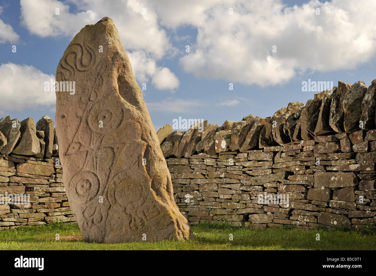 Pictish Standing Stones at Aberlemno, Angus, Scotland Stock Photo