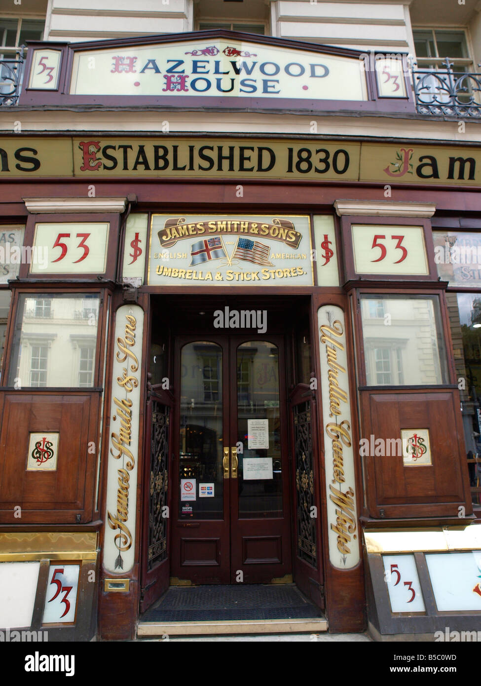 James Smith and Sons Umbrella shop 53 New Oxford Street London - Stock Image