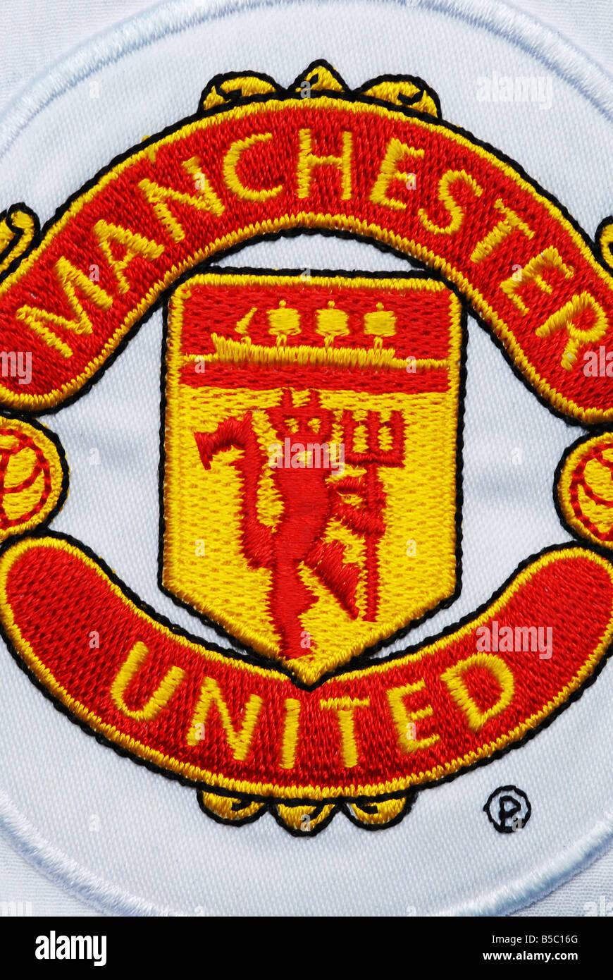 Manchester United Badge Stock Photo Alamy