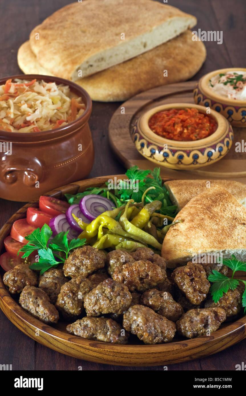 Cevapcici South east Europe Food - Stock Image