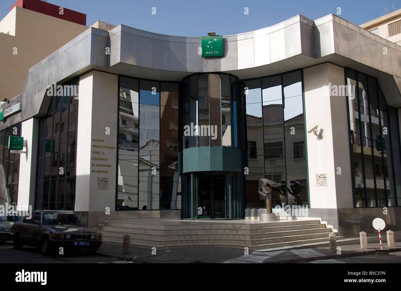 International Bank of Senegal for Commerce and Industry BICIS Dakar Senegal - Stock Image