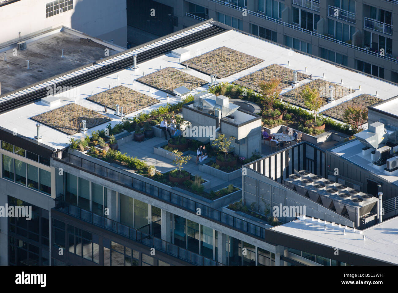 Rooftop Garden City United States Stock Photos \u0026 Rooftop
