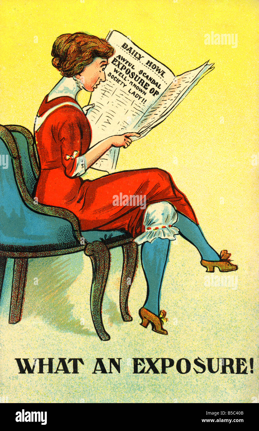 1914 comic art Postcard 1910s EDITORIAL USE ONLY Stock Photo