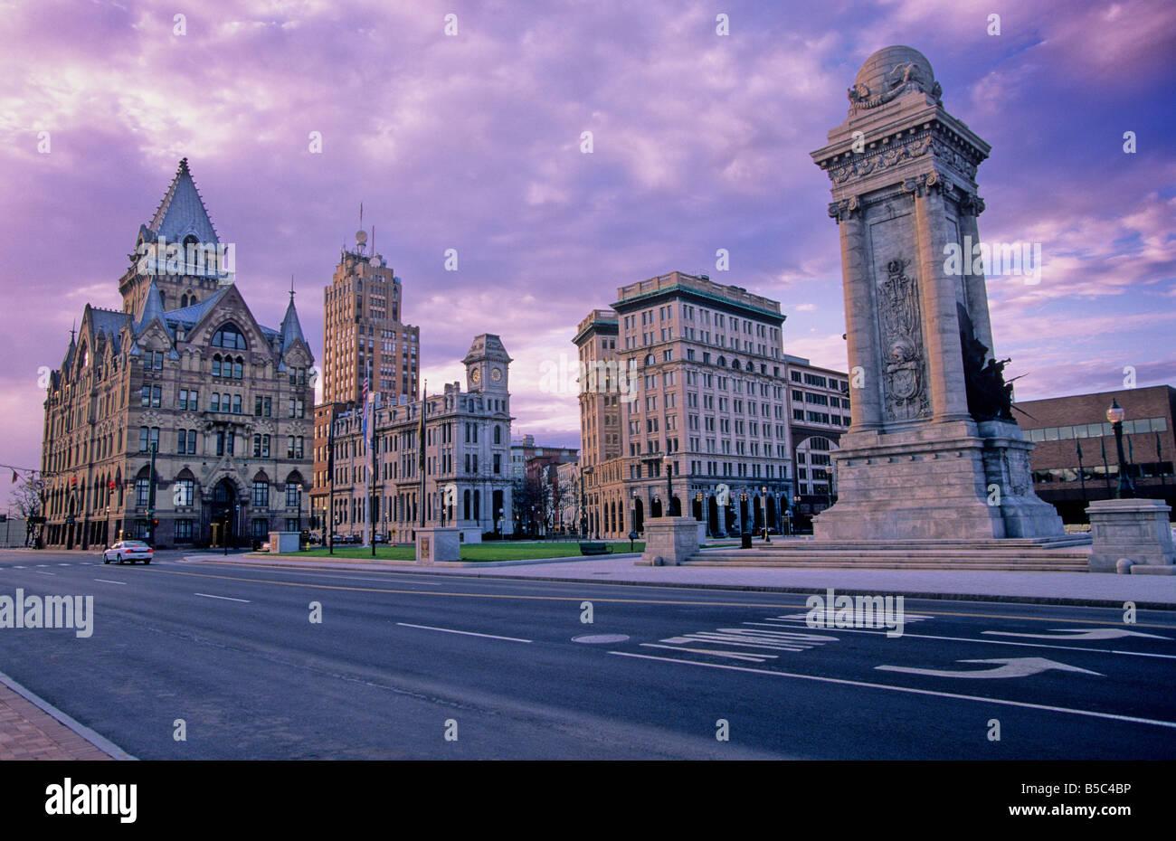 Clinton Square Syracuse New York - Stock Image