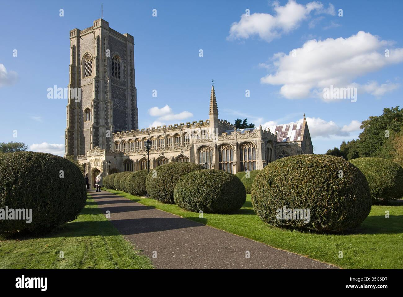 Lavenham Parish Church - Stock Image