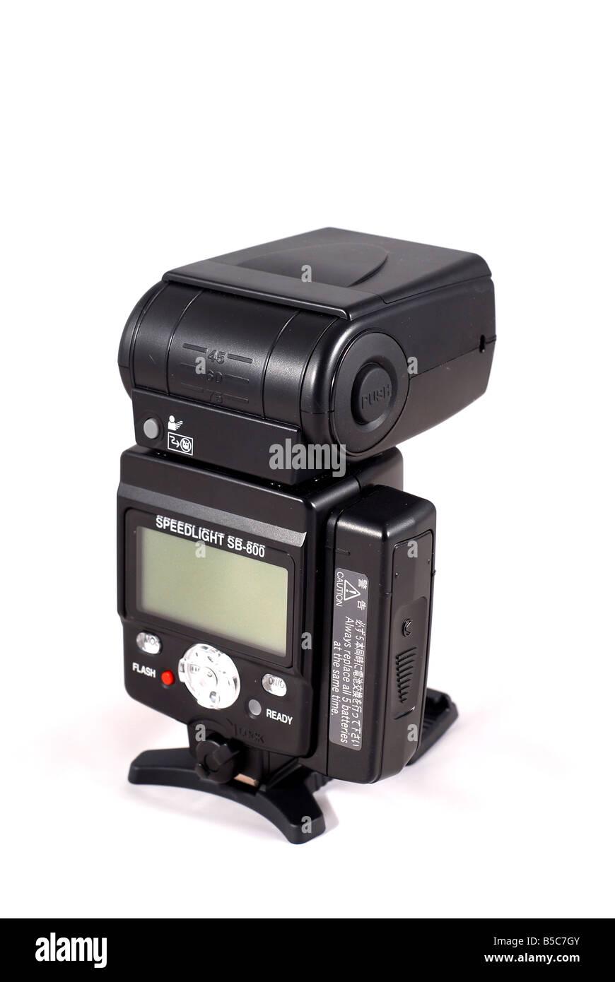 Nikon SB800 flashgun - Stock Image