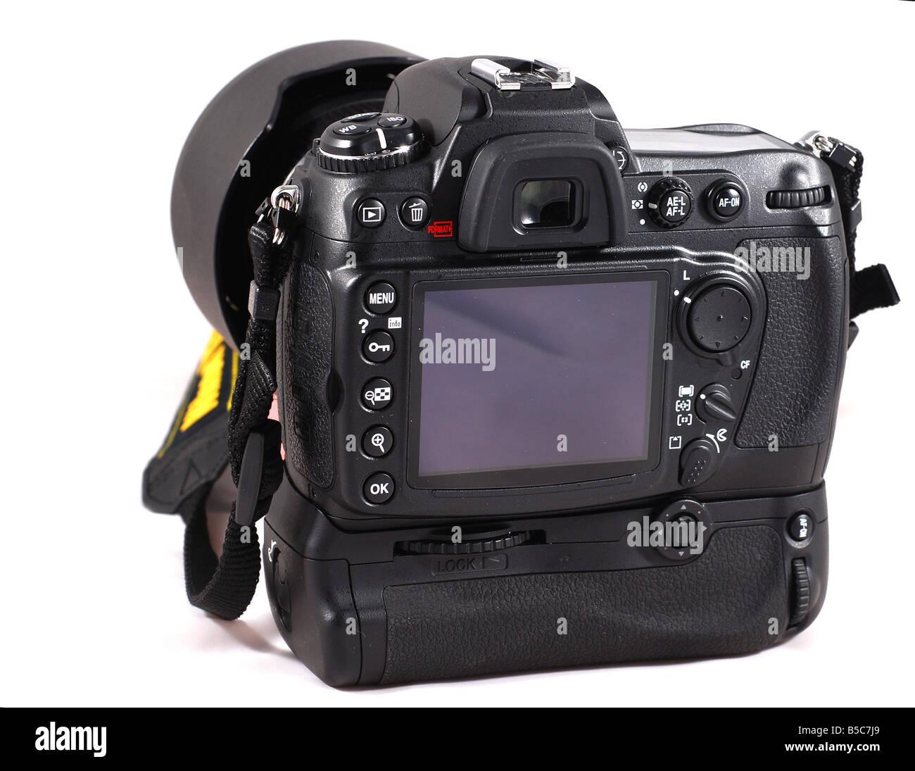 Nikon D300 with MB-D10 battery grip - Stock Image
