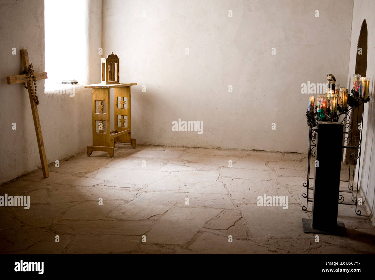 A Chapel in Chimayo, New Mexico - Stock Image