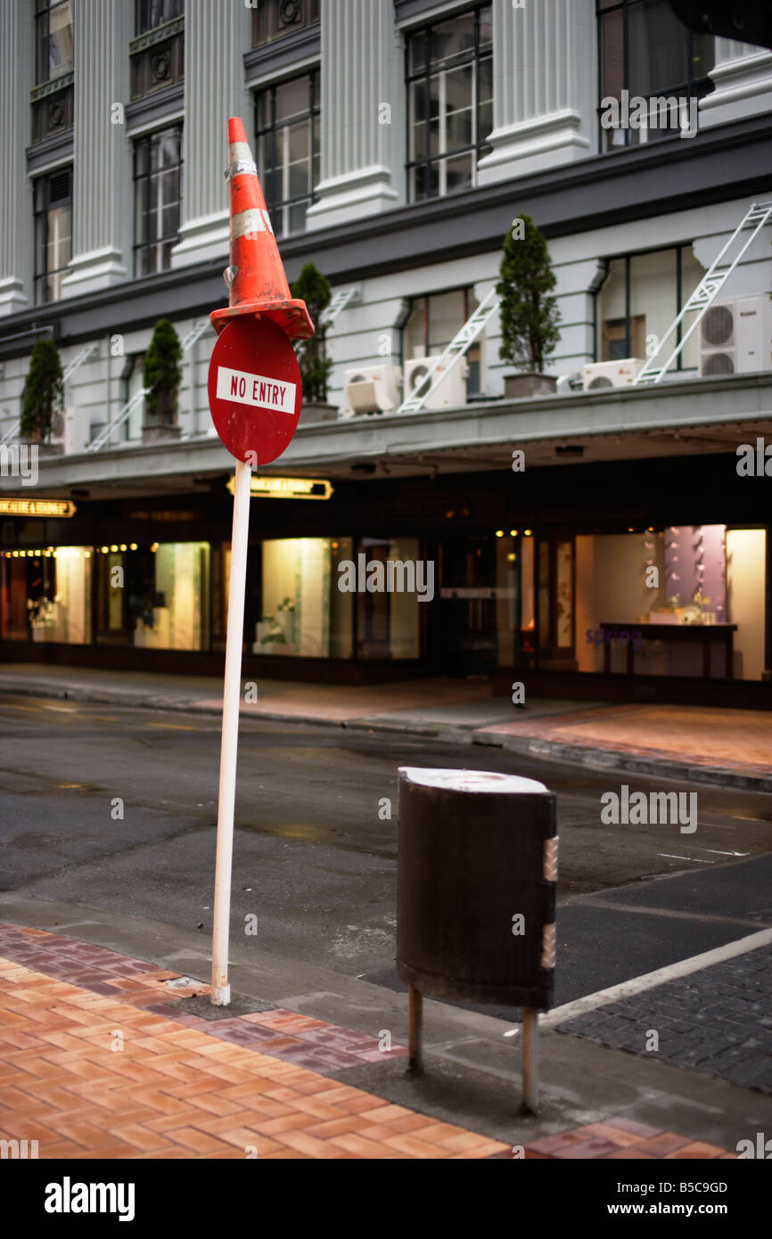 Lambton Quay Wellington New Zealand Stock Photo