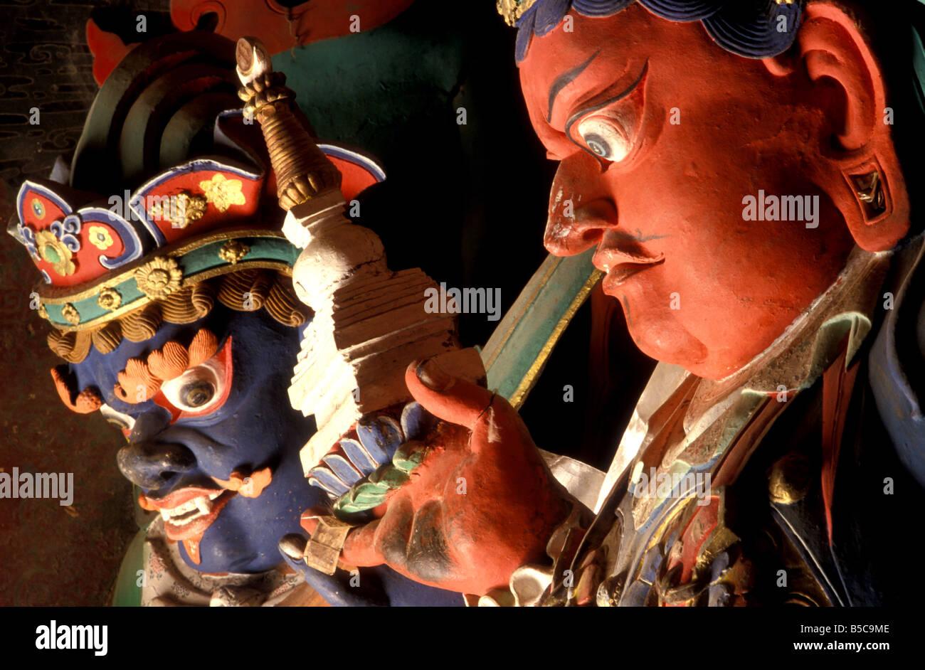 gyantse kumbum tibet - Stock Image