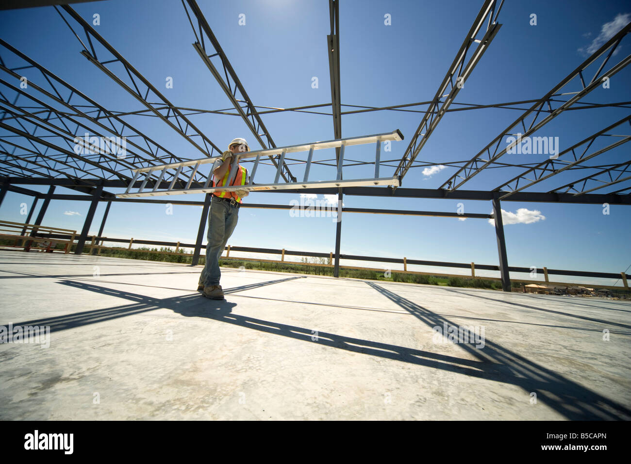 Working on the job site - Stock Image