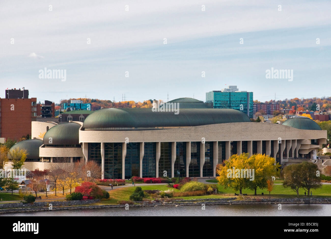 The museum of Civilisations located on the Quebec shore of Ottawa Canada - Stock Image
